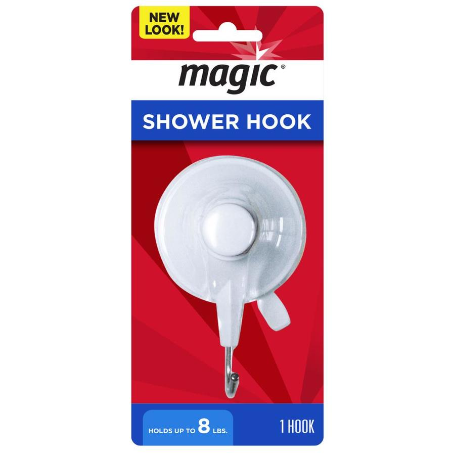 Weiman Products White Single Shower Hook