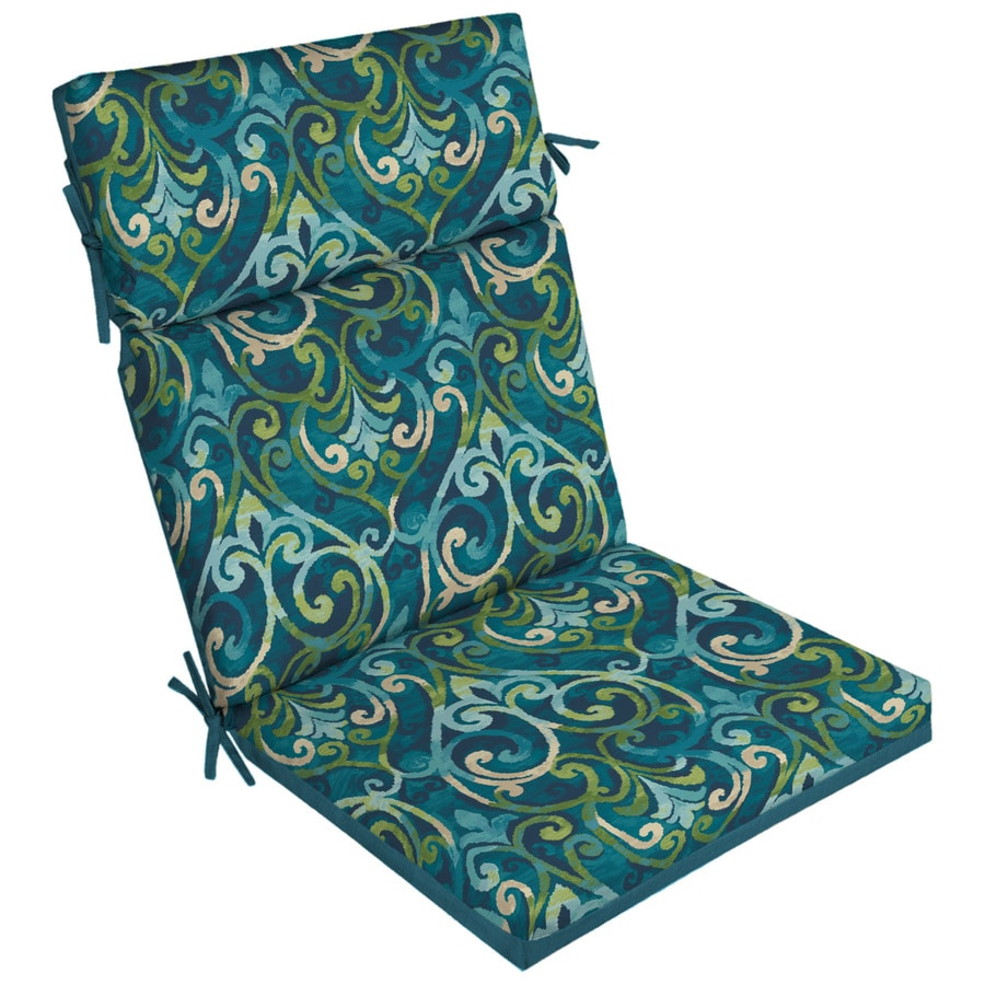 Garden Treasures Damask High Back Patio Chair Cushion For
