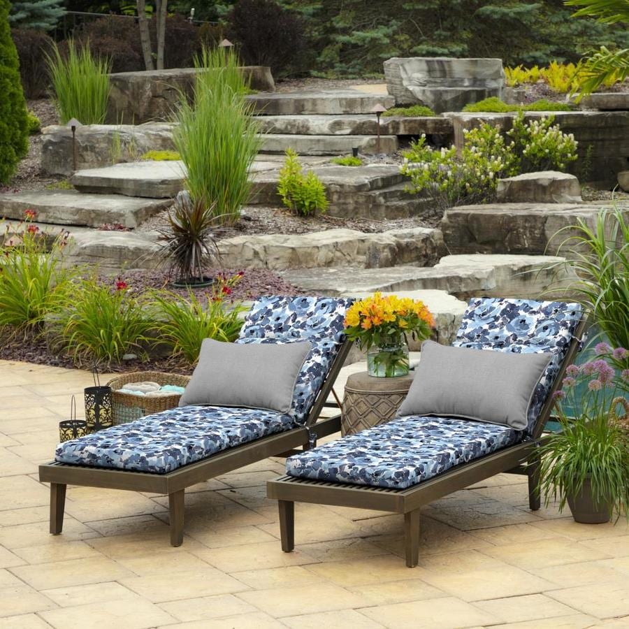 Chaise Lounge Cushion Patio Outdoor Chair Pad Resist Fade 21x72 Garden Delight