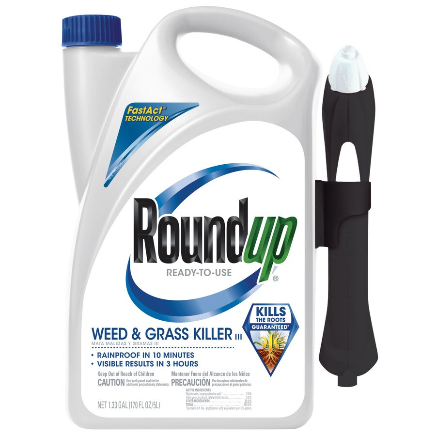 Roundup 1.33-Gallon Ready-to-Use Weed and Grass Killer III Plus Pull and Spray Applicator