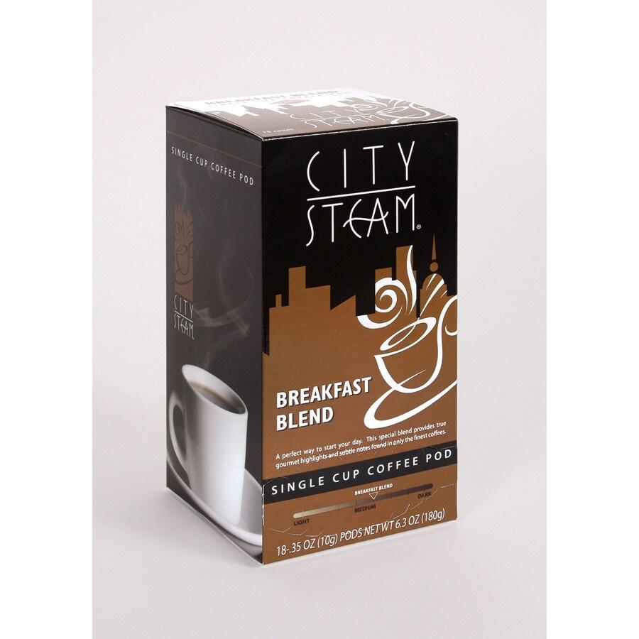 City Steam 18-Pack Breakfast Blend Single-Serve Coffee