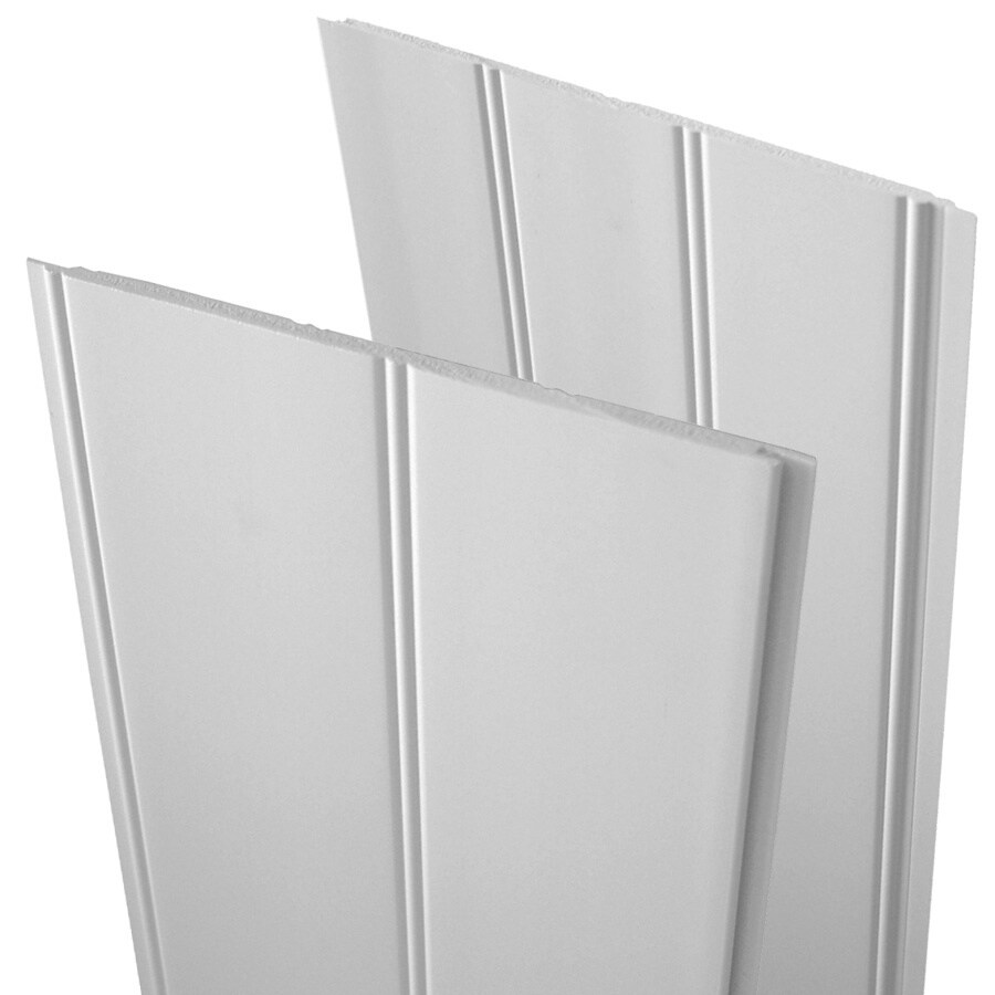 EverTrue 7.5-in x 2.83-ft Double Bead White PVC Wainscot Wall Panel