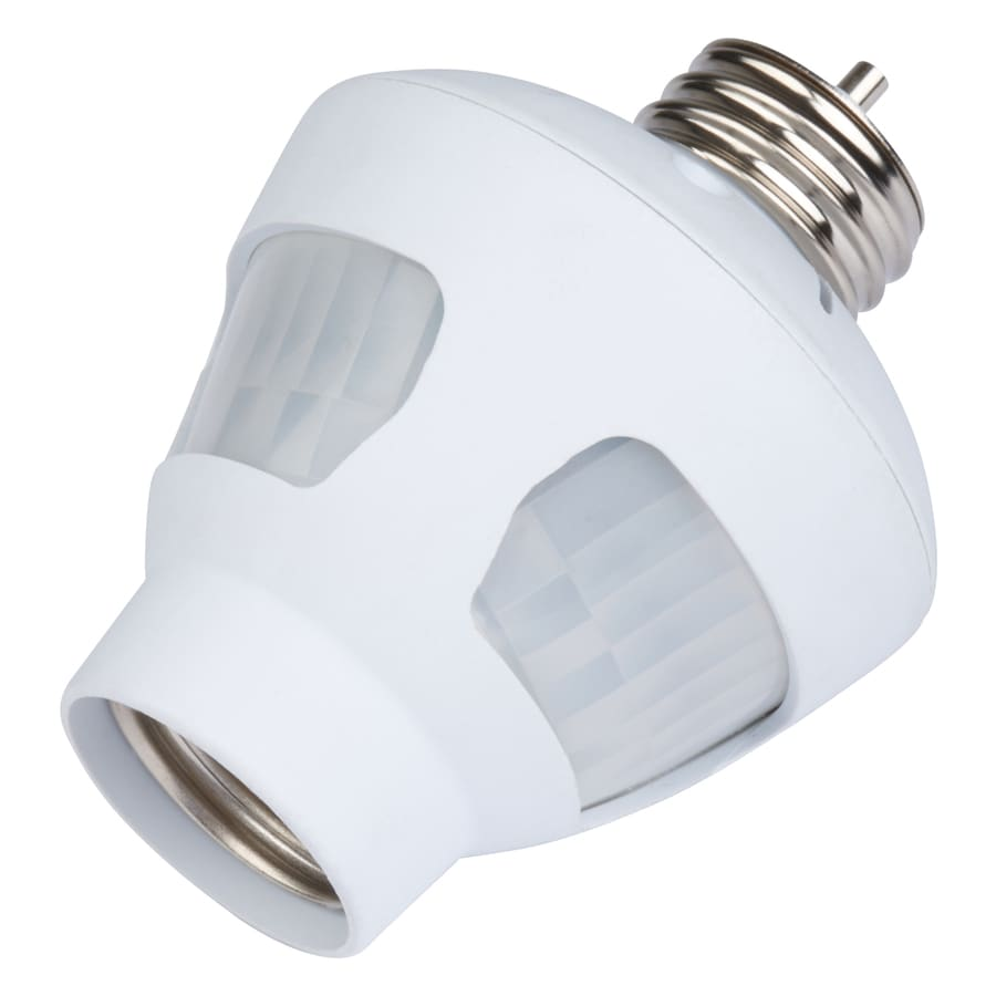 shop utilitech white motion sensor dusk to dawn light control at lowes. Black Bedroom Furniture Sets. Home Design Ideas