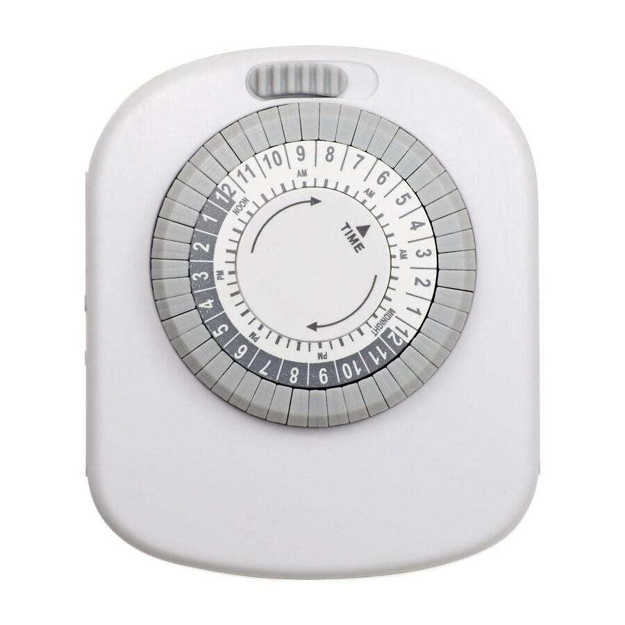 Utilitech 15-Amp 4-Outlet Mechanical Residential Plug-In Lighting Timer