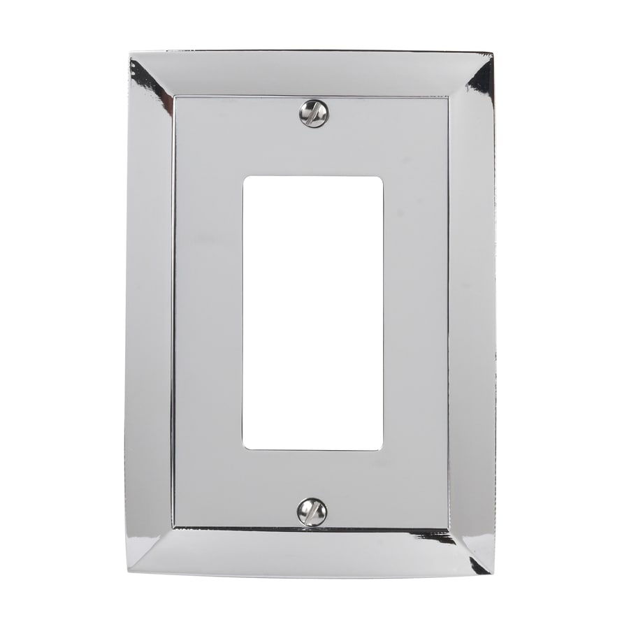 allen + roth 1-Gang Polished Chrome Decorator Rocker Metal Wall Plate