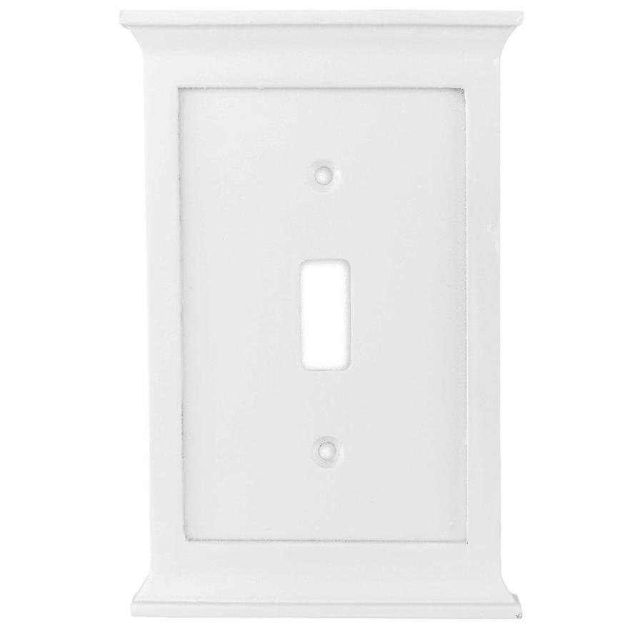 allen + roth Capitol 1-Gang White Toggle Wall Plate