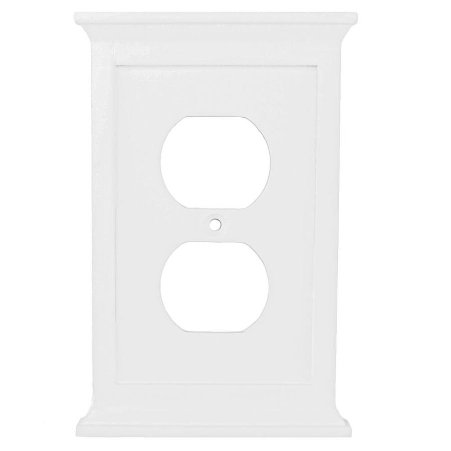allen + roth Capitol 1-Gang White Duplex Wall Plate