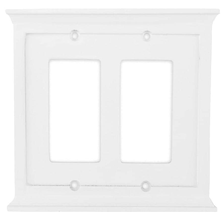 allen + roth Capitol 2-Gang White Decorator Wall Plate