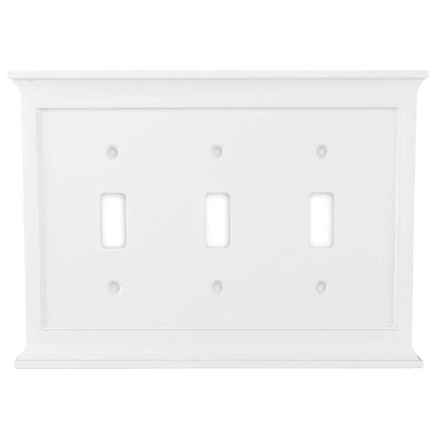 allen + roth Capitol 3-Gang White Toggle Wall Plate