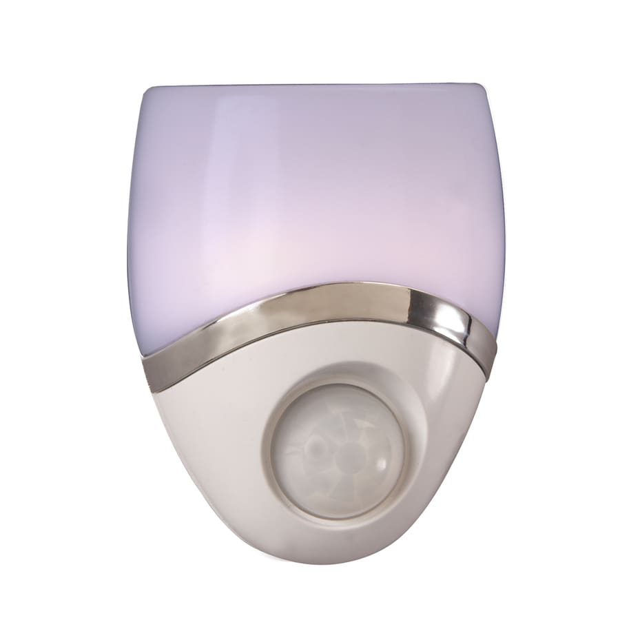 AmerTac White LED Night Light with Motion Sensor and Auto On/Off