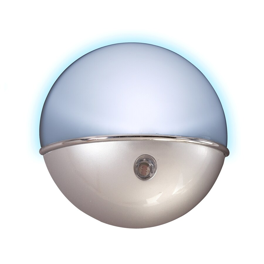 AmerTac Satin Nickel LED Night Light with Auto On/Off