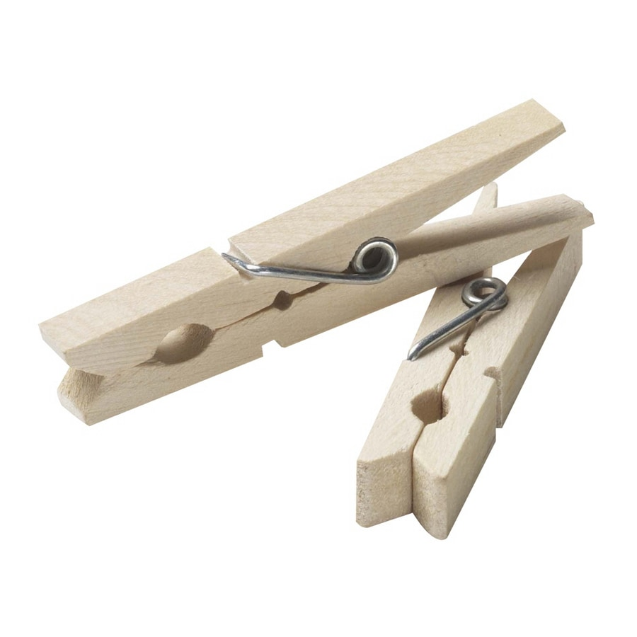 Household Essentials 50-Pack Brown Wood Clothespins