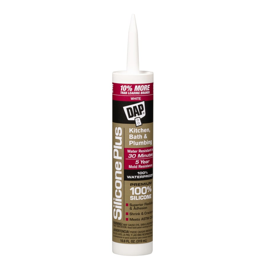 DAP 10.8-oz White Silicone Kitchen and Bathroom Caulk