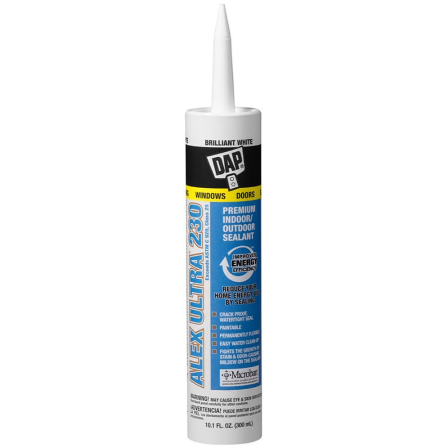DAP 10.1-oz Brilliant White Paintable Latex Window and Door Caulk