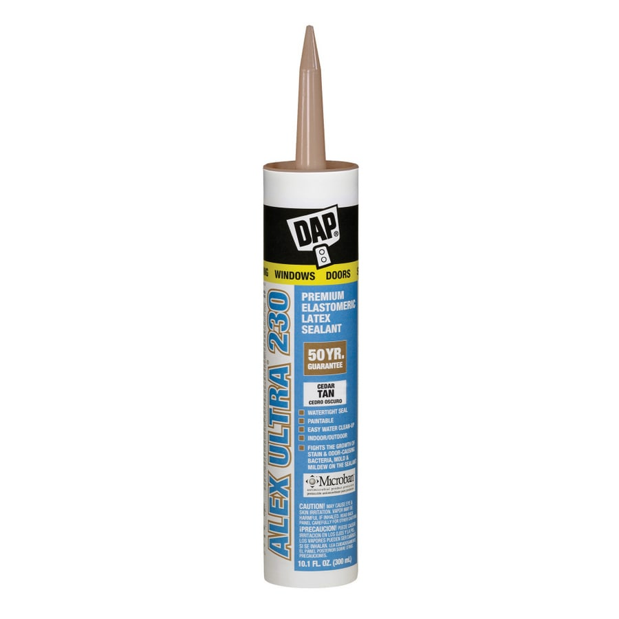 DAP 10.1-oz Cedar Tan Paintable Latex Window and Door Caulk