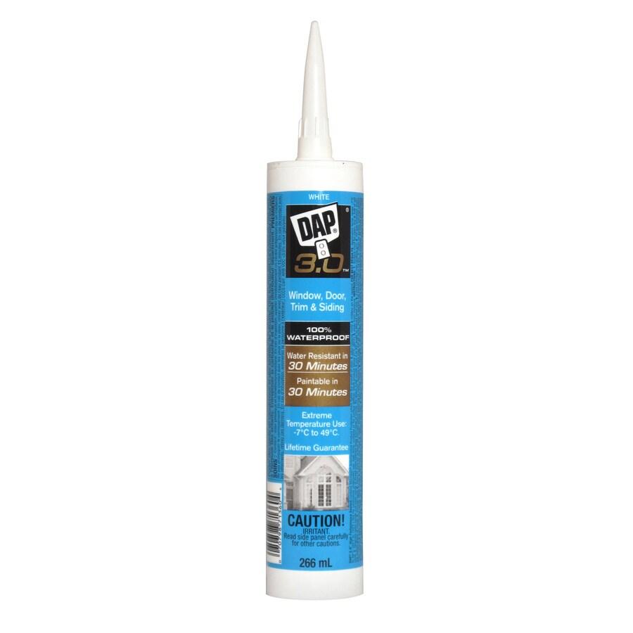 DAP 3.0 Series 9-oz White Paintable Silicone Window and Door Caulk