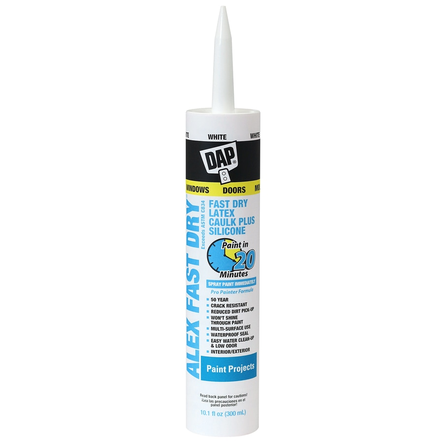 DAP ALEX Fast Dry 10.1-oz White Paintable Latex Window and Door Caulk
