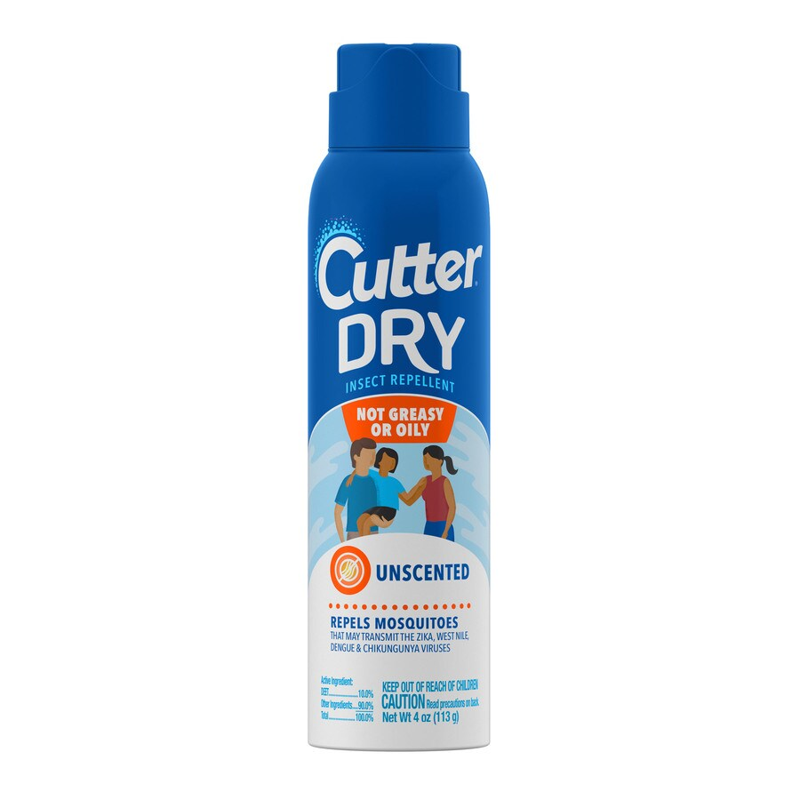 Cutter Dry Insect Repellent - Repels Mosquitoes that may transmit the Zika Virus
