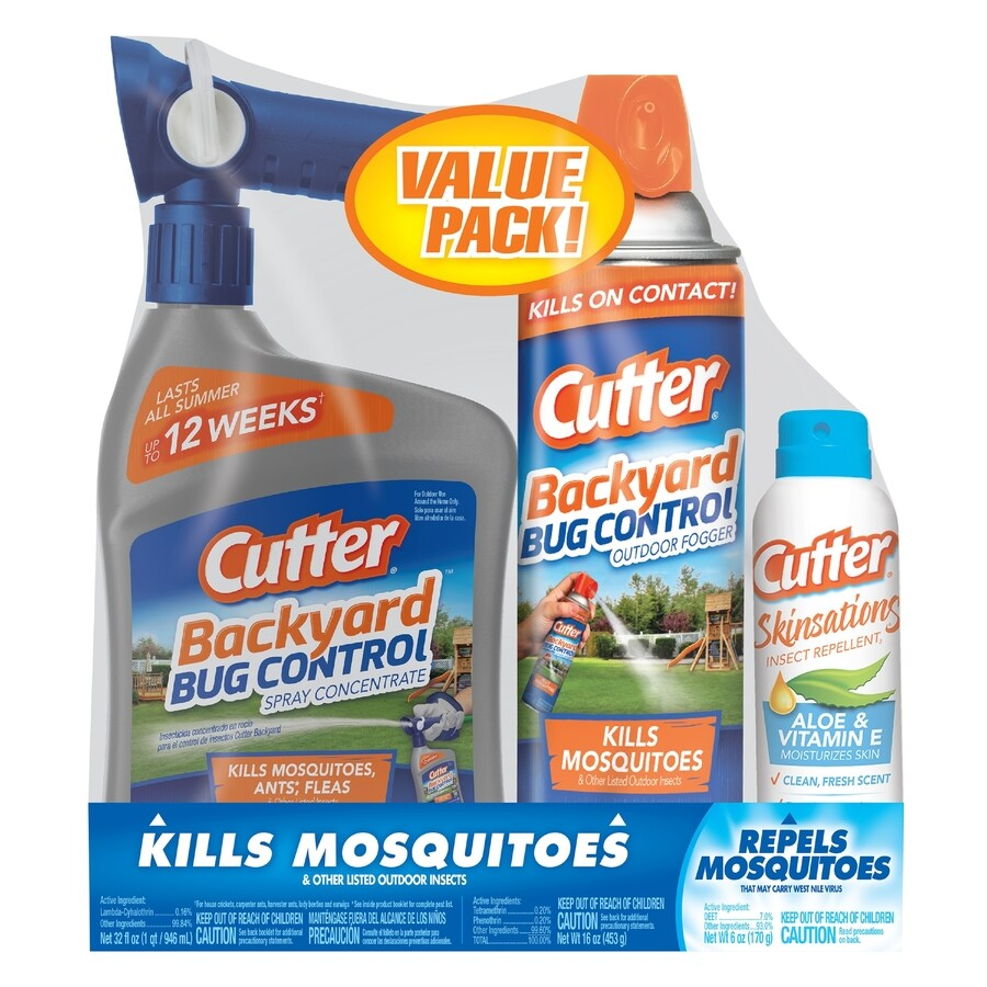 Cutter Mosquito Control Value Pack- Ready-To-Spray, Fogger and Repellent