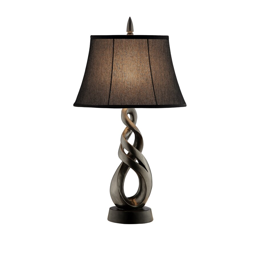 29-in Gun Metal Touch Indoor Table Lamp with Fabric Shade