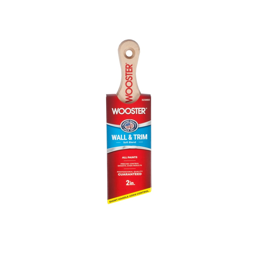 Wooster Polyester Nylon Blend Angle Sash Paint Brush (Common: 2-in; Actual: 2.06-in)