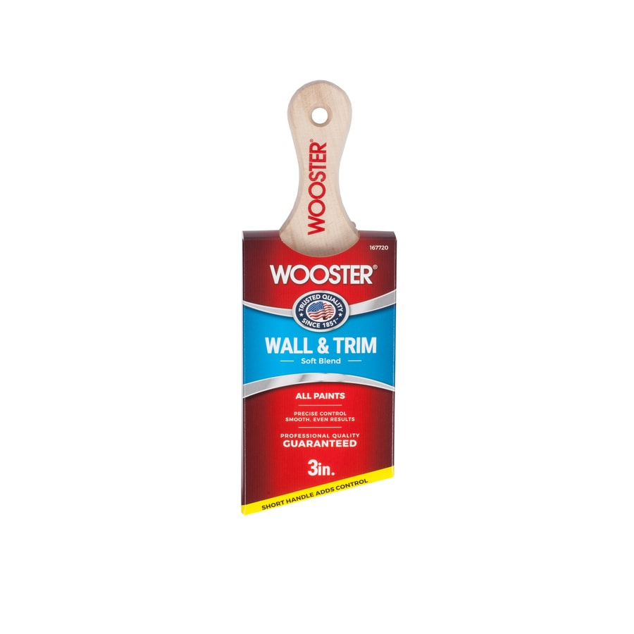 Wooster Polyester Nylon Blend Angle Sash Paint Brush (Common: 3-in; Actual: 3.06-in)