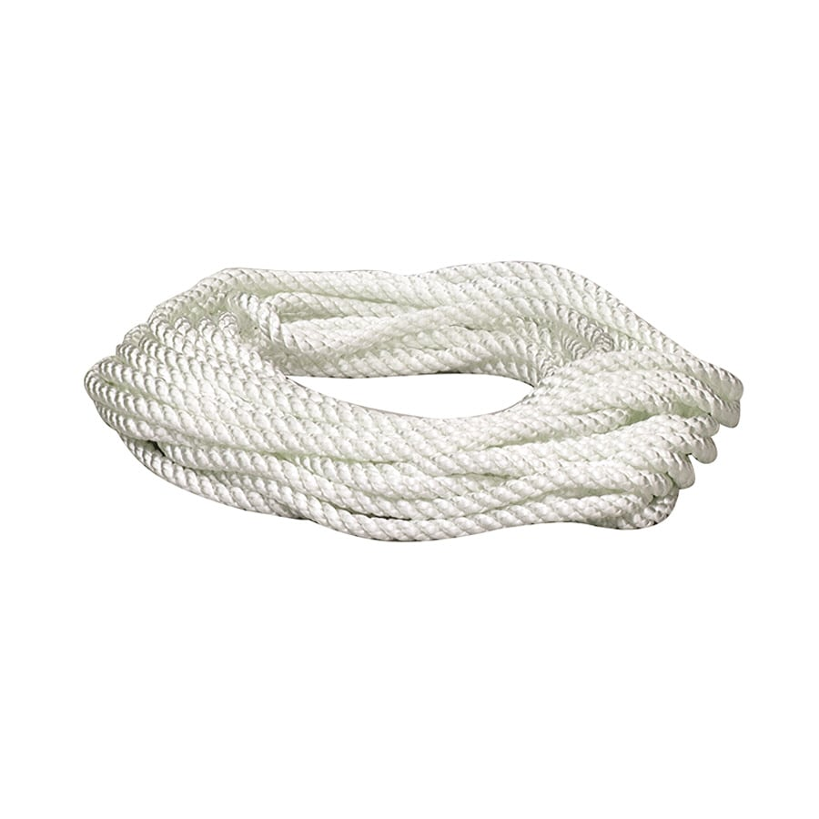 Lehigh 3/8-in x 25-ft White Twisted Nylon Rope