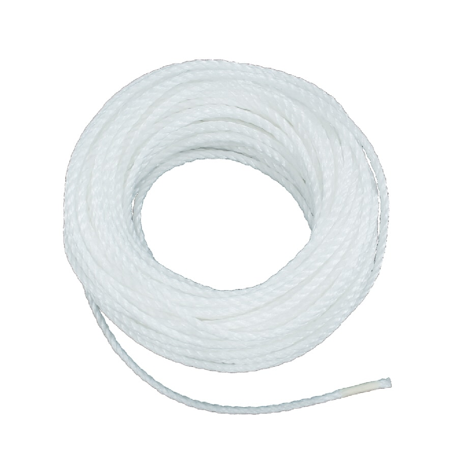 Lehigh 3/8-in x 50-ft White Twisted Nylon Rope