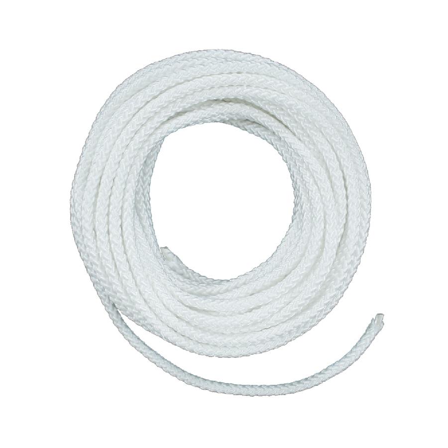 Lehigh 3/16-in x 50-ft White Braided Nylon Rope