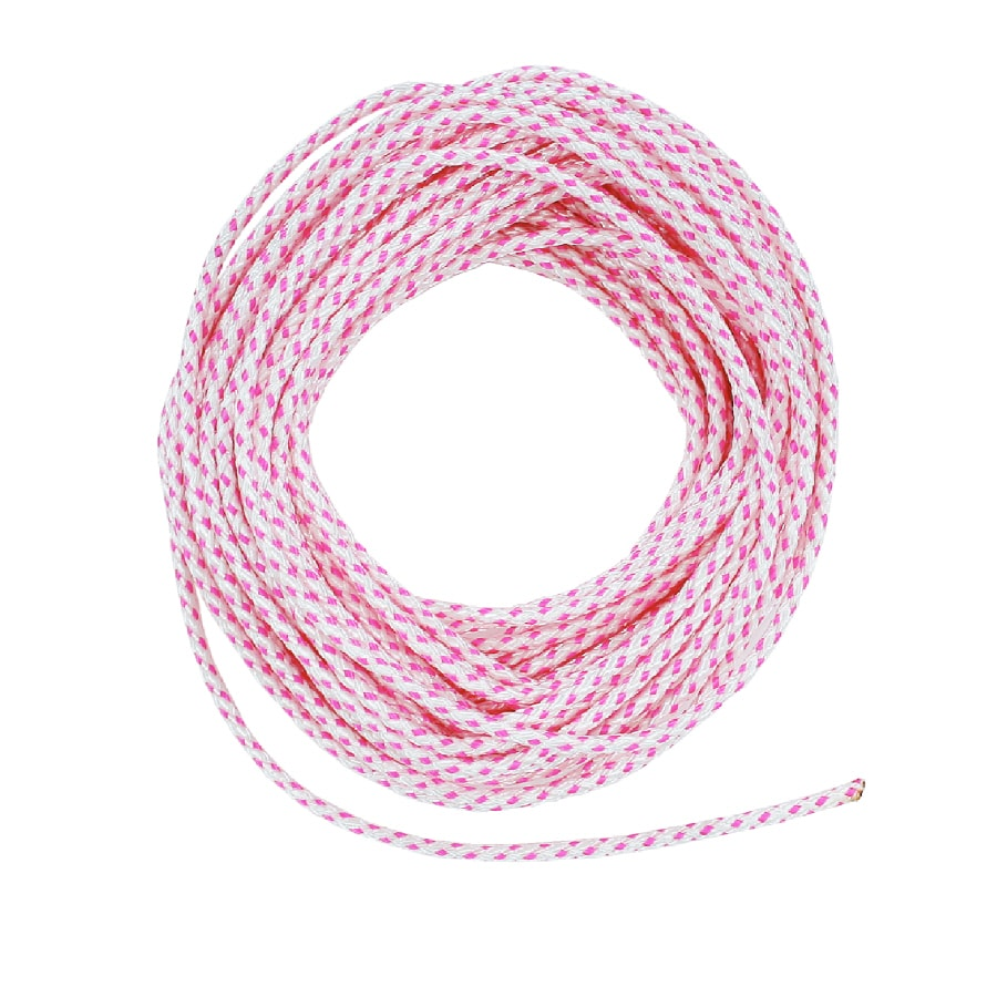 Lehigh 3/16-in x 50-ft White Braided Polyester Rope
