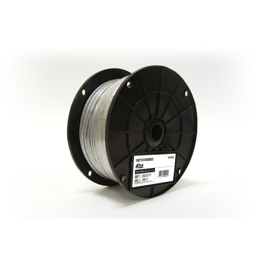 Blue Hawk 1-ft 1/8 Weldless Silver Steel Cable (By-the-Foot)