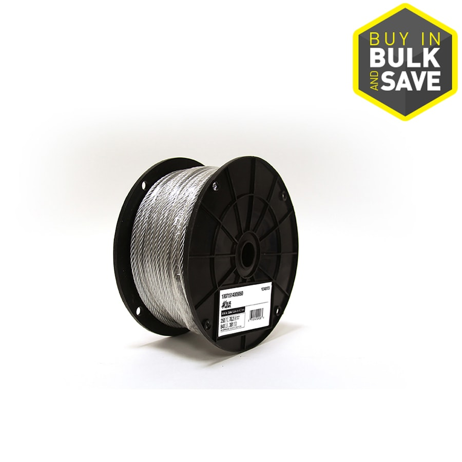 Blue Hawk 1-ft Weldless Silver Steel Cable (By-the-Foot)