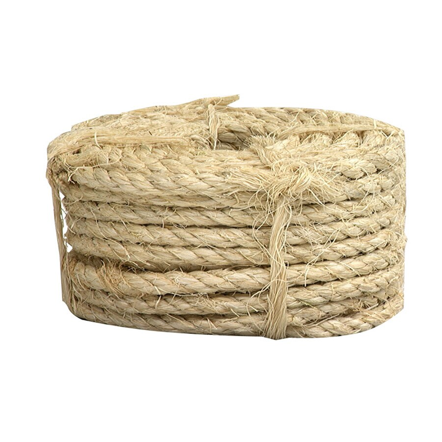 Lehigh 1/4-in x 100-ft Natural Twisted Sisal Rope