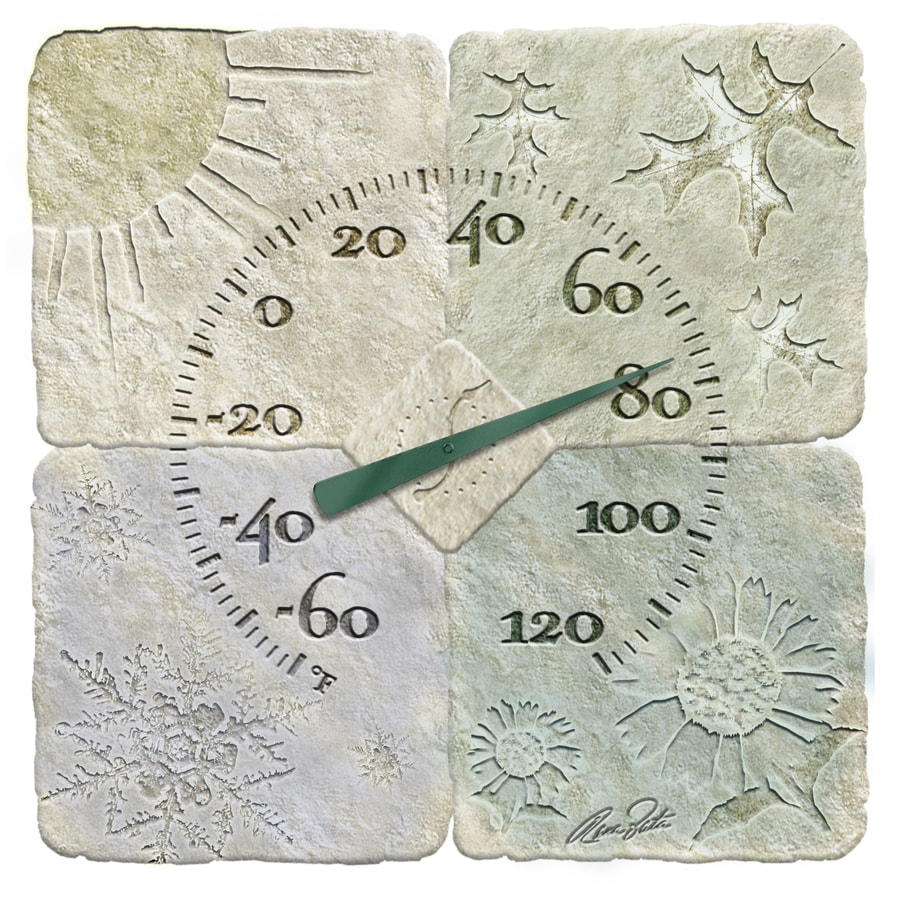 "Garden Treasures 14"" Indoor/Outdoor Thermometer"