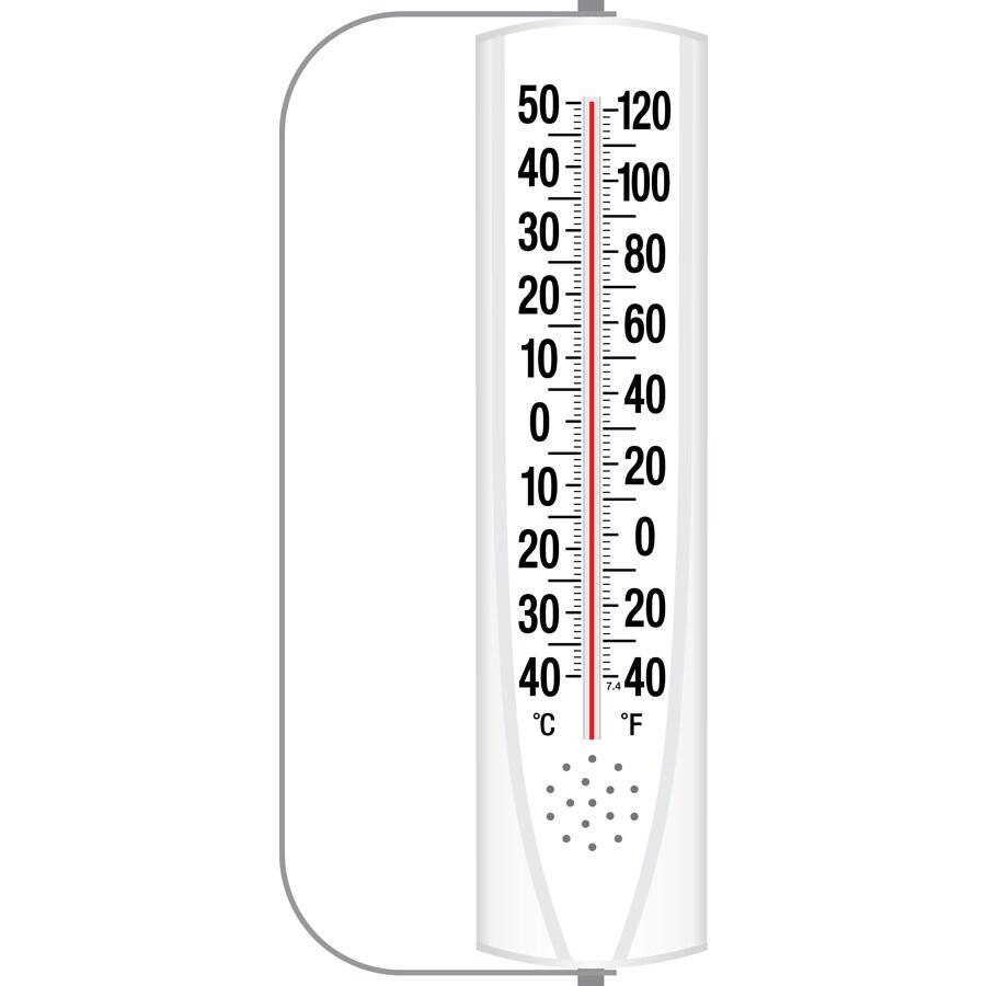 Garden Treasures Indoor/Outdoor Thermometer with Swivel Bracket