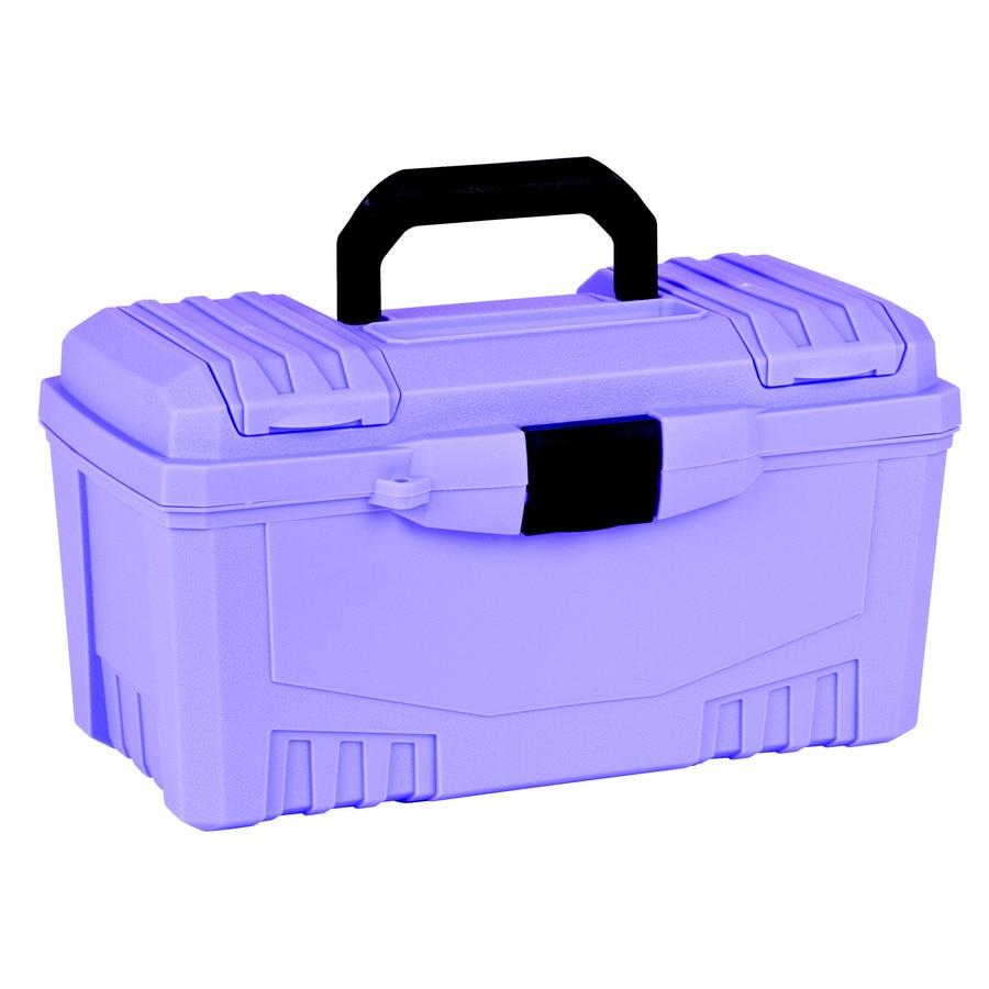 Flambeau 17-in Purple Plastic Lockable Tool Box