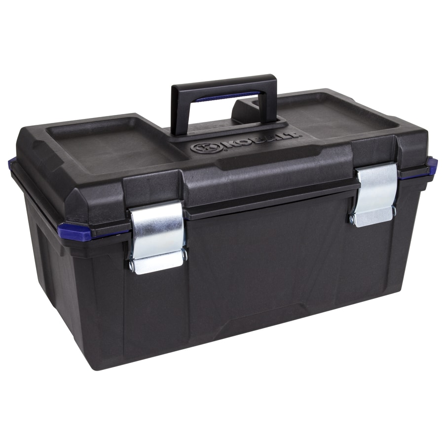 Kobalt Zerust 22-in Black Plastic Lockable Tool Box