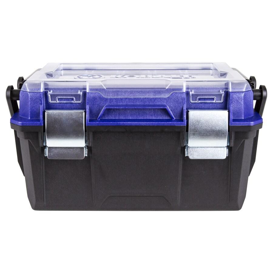 Kobalt Zerust 18-in Black Plastic Lockable Tool Box