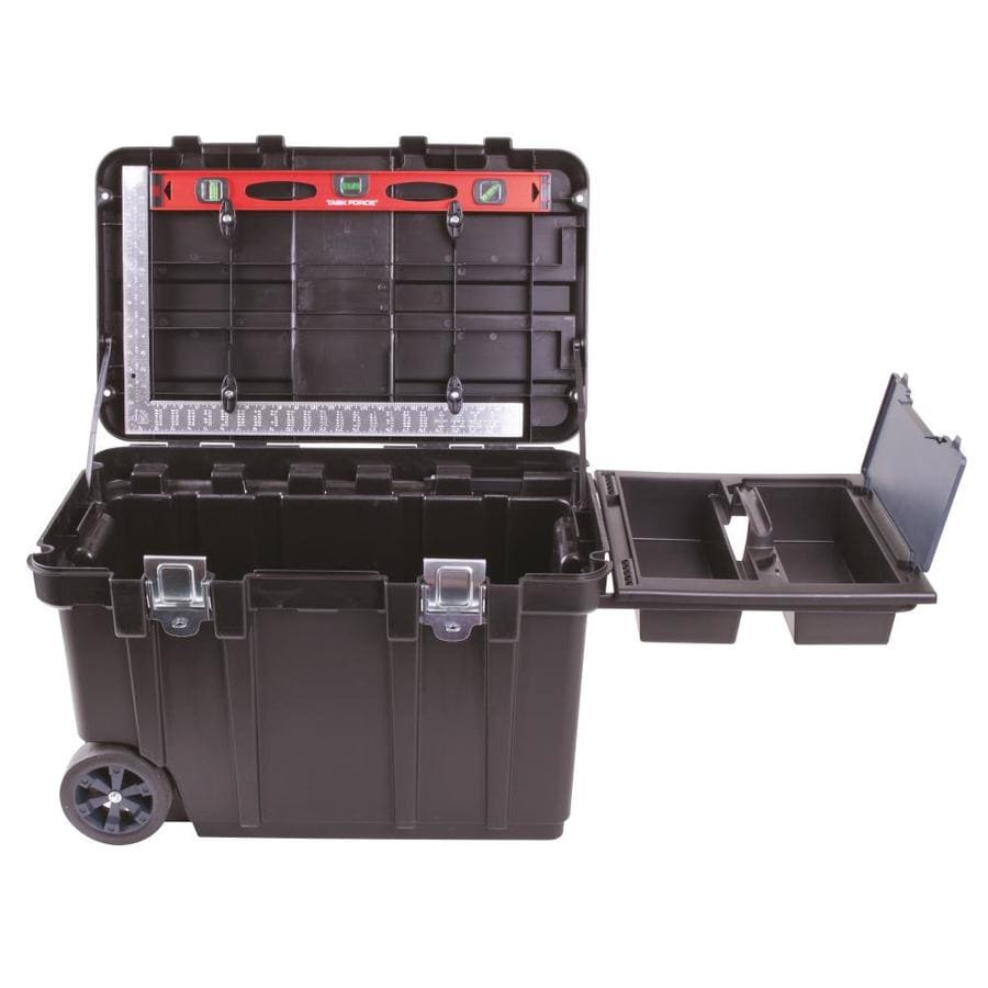Shop Blue Hawk 30 5 In Black Plastic Wheeled Tool Box At