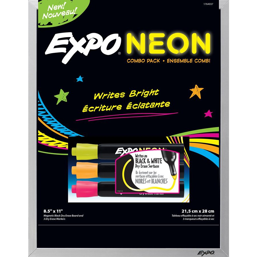 Expo 3-Pack Expo Black Board Neon Marker