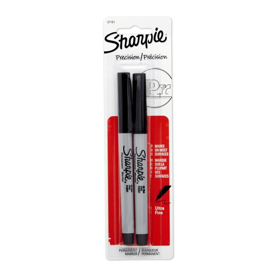 Sharpie 2-Pack Black Ultra Fine Point Permanent Markers