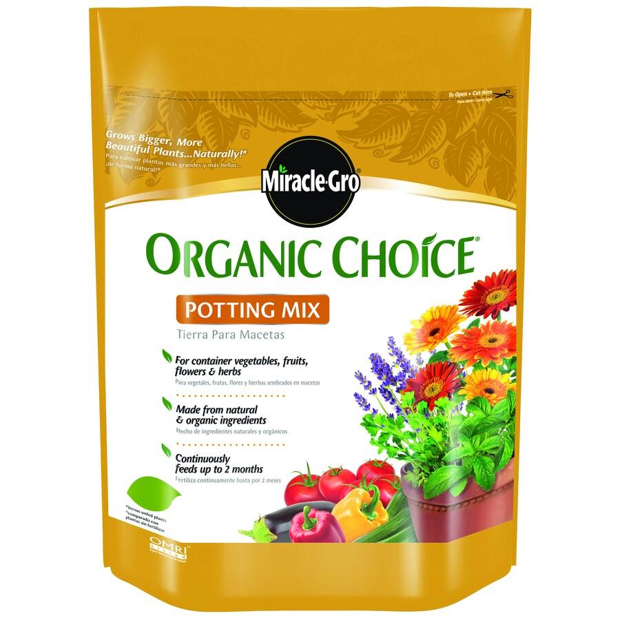 Shop miracle gro organic choice 8 quart organic potting for Organic soil