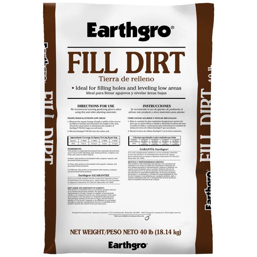 Earthgro Fill Dirt 40-lb Top Soil