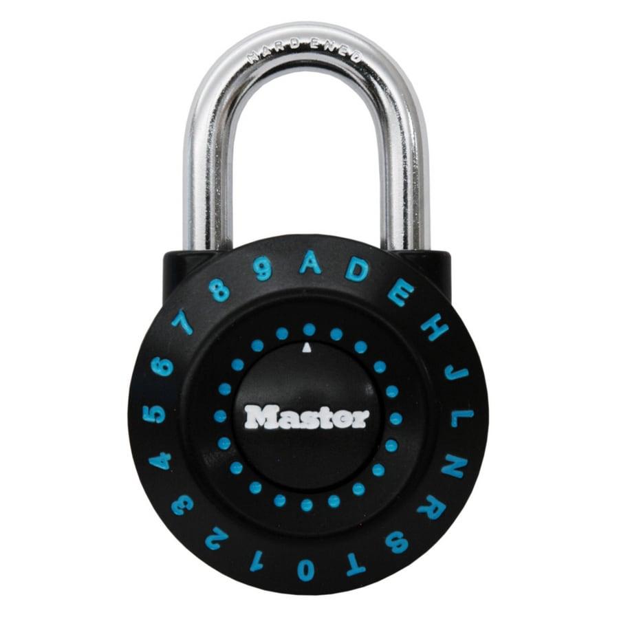 Master Lock 1.94-in Black/Green Steel Shackle Combination Padlock
