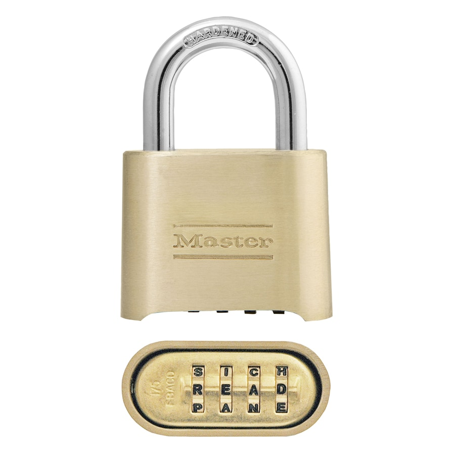Master Lock 2-in Brass Shackle Combination Padlock
