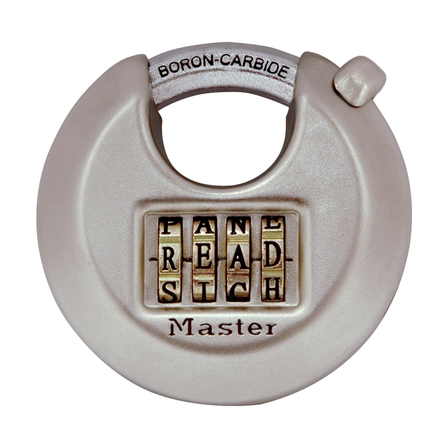 Master Lock 2.76-in Silver Steel Shackle Combination Padlock