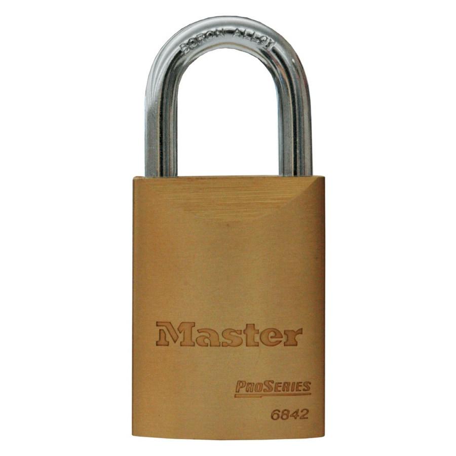 Master Lock Brass Shackle Keyed Padlock