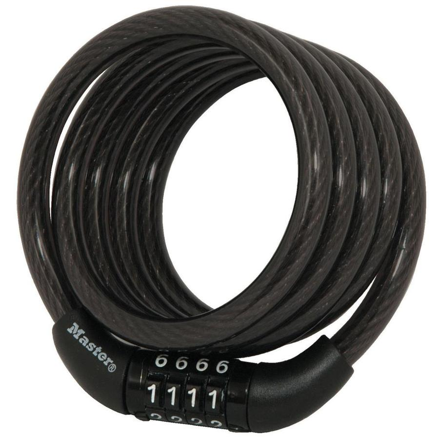 Master Lock 48-in Black Steel Combination Cable Lock