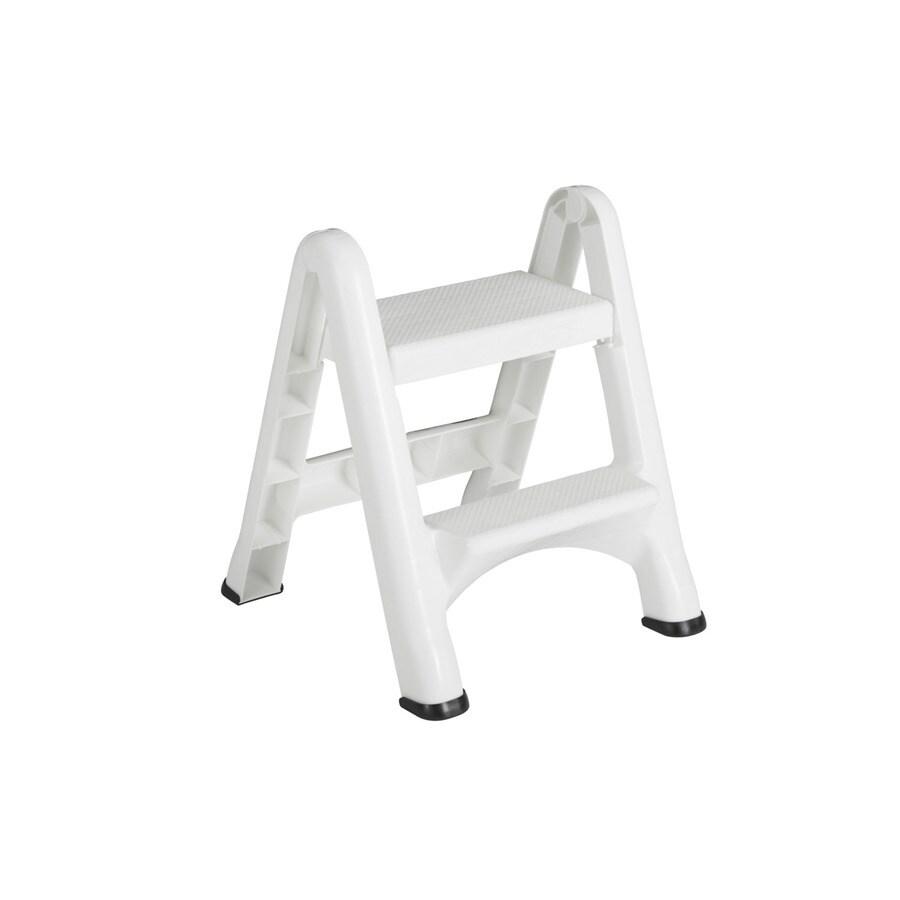Rubbermaid 2-Step White Plastic Step Stool