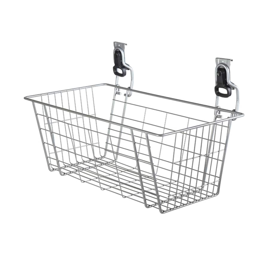 Rubbermaid FastTrack 24-in W x 12.5-in H Silver Wire Garage Storage Basket